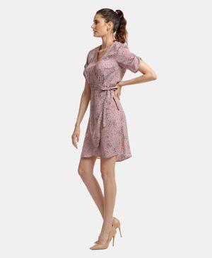 Dockers® Ruched Sleeve Wrap DreShort Sleeve